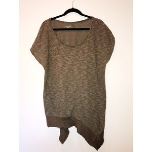 LANE BRYANT asymmetrical army green sweater 18/20